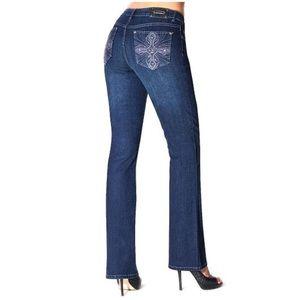 Tru Luxe Denim Jeans Indigo Wash Brussels Bootcut